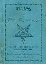 Thumbnail image of Holden Chapter O. E. S. 1887 By-Laws cover
