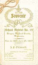 Thumbnail image of Bergen Township School 1896-1897 Souvenir cover