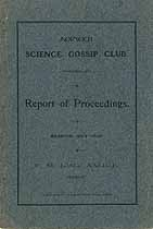 Thumbnail image of Norwich Science Gossip Club 1904-05 Report cover