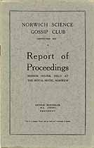 Thumbnail image of Norwich Science Gossip Club 1925-26 Report cover