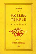 Thumbnail image of Moslem Temple A.A.O.N.M.S. 1907 Roster cover