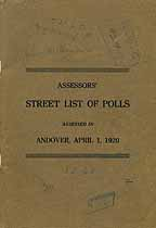 Thumbnail image of Andover 1920 Poll Taxes cover