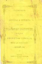Thumbnail image of Lincoln Co. Teachers' Institute 1848 Catalogue cover
