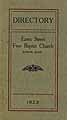 Thumbnail image of Bangor Free Baptist Church 1923 Directory cover