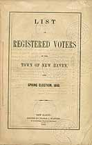 Thumbnail image of New Haven 1860 Registered Voters cover