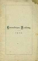 Thumbnail image of Canandaigua Academy 1876 Catalogue cover