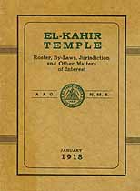 Thumbnail image of El-Kahir Temple A.A.O.N.M.S. 1918 Roster cover
