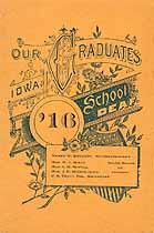Thumbnail image of Iowa School for the Deaf 1916 Graduation cover