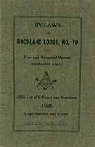 Thumbnail image of Rockland Lodge, F. & A. M. 1928 By-Laws cover