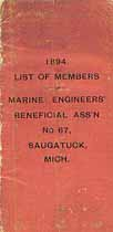 Thumbnail image of Marine Engineers' Beneficial Ass'n No. 67, 1894 Members cover