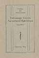 Thumbnail image of Tishomingo County Agricultural High 1916-17 Catalogue cover
