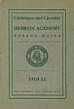 Thumbnail image of Hebron Academy 1910-11 Catalogue cover