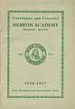 Thumbnail image of Hebron Academy 1916-17 Catalogue cover