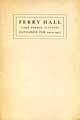 Thumbnail image of Ferry Hall 1904-05 Catalogue cover