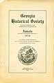 Thumbnail image of Georgia Historical Society 1916 Annals cover