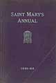 Thumbnail image of Saint Mary's Annual 1921-22 cover