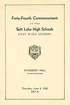Thumbnail image of Salt Lake High Schools 1936 Commencement cover