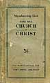 Thumbnail image of Park Hill Church of Christ 1927 Membership List cover