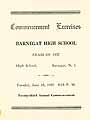 Thumbnail image of Barnegat High School 1937 Commencement cover