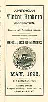 Thumbnail image of American Ticket Brokers Association 1893 Members cover