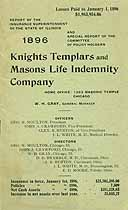 Thumbnail image of Knights Templars and Masons Life Indemnity Co. 1896 Claims cover