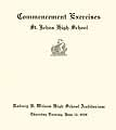 Thumbnail image of St. Johns High School 1929 Commencement cover