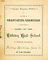 Thumbnail image of Littleton High School 1891 Graduation cover