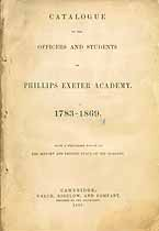 Thumbnail image of Phillips Exeter Academy 1783-1869 Catalogue cover