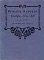 Thumbnail image of Priscilla Rebekah Lodge 1909 By-Laws cover