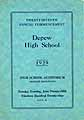 Thumbnail image of Depew High School 1929 Commencement cover