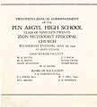 Thumbnail image of Pen Argyl High School 1920 Commencement cover