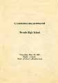 Thumbnail image of Nevada High School 1927 Commencement cover