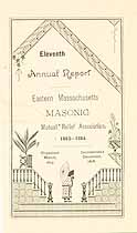 Thumbnail image of Eastern Mass. Masonic Mutual Relief Assoc. 11th Report cover
