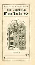 Thumbnail image of Mansfield Mutual Fire Ins. Co. 1896 Assessment cover