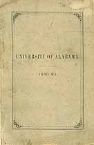 Thumbnail image of University of Alabama 1881 Catalogue cover