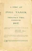 Thumbnail image of Middleborough Precinct Two 1897 Poll Taxes cover