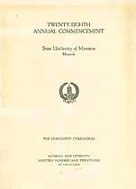 Thumbnail image of University of Montana 1925 Commencement cover