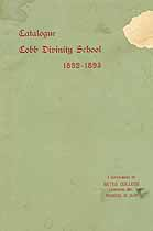 Thumbnail image of Cobb Divinity School 1892-3 Catalogue cover