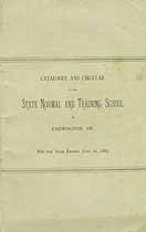 Thumbnail image of Farmington State Normal School 1887 Catalogue cover