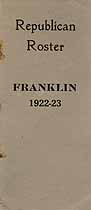 Thumbnail image of Franklin County Republican 1922-23 Roster cover