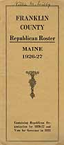 Thumbnail image of Franklin County Republican 1926-27 Roster cover