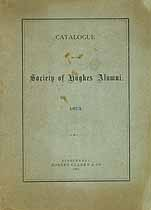 Thumbnail image of Society of Hughes Alumni 1873 Catalogue cover