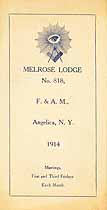 Thumbnail image of Melrose Lodge, F. & A. M. 1914 Calendar cover
