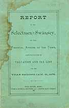 Thumbnail image of Swansey Tax List and Reports for 1875 cover
