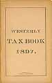 Thumbnail image of Westerly Tax Book 1897 cover