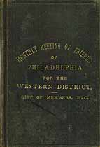 Thumbnail image of Philadelphia Monthly Meeting of Friends 1897 Members cover