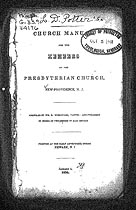 Thumbnail image of New Providence Presbyterian Church 1834 Members cover