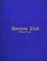 Thumbnail image of Aurania Club 1910 List of Members cover