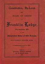 Thumbnail image of Franklin Lodge No. 23, I.O.O.F. 1906 Roster cover
