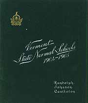 Thumbnail image of Vermont State Normal Schools 1904-1905 cover